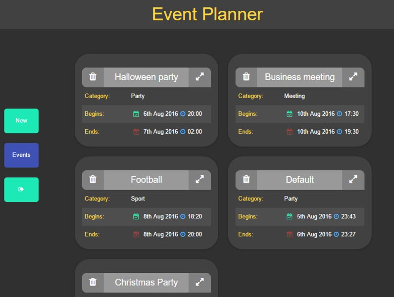 Event Planner project image