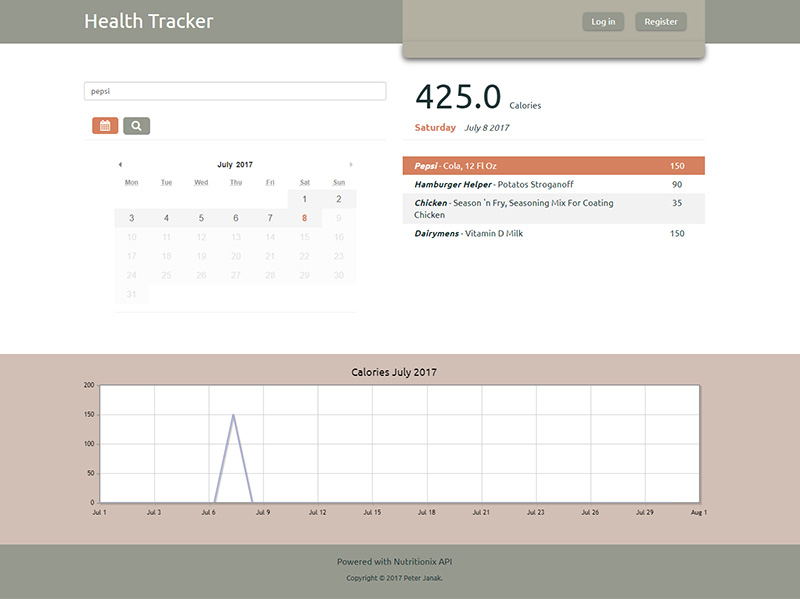 Health Tracker project image