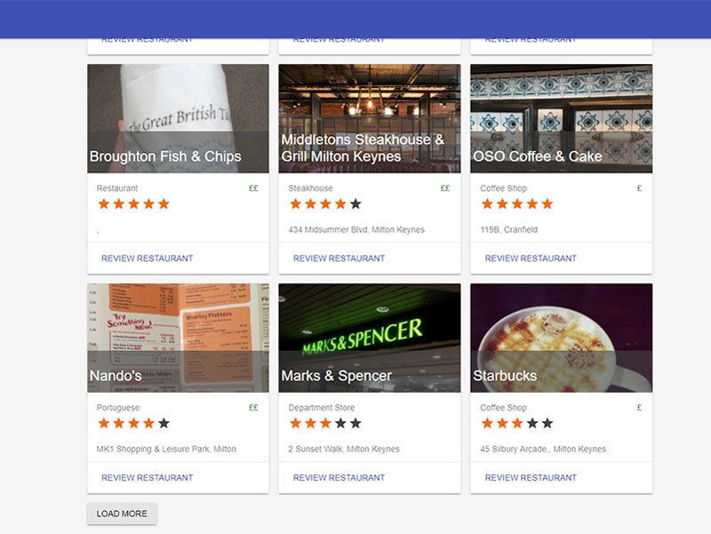 Restaurant Reviewer project image